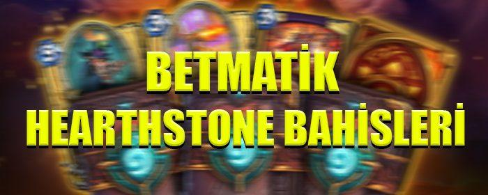 Betmatik canlı bahis sitesinde Hearthstone bahisleri nasıl yapılır ?